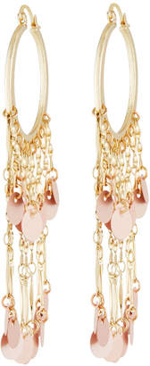 Panacea Sequin Fringe Hoop Earrings
