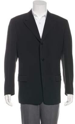 Gianni Versace Striped Peak-Lapel Blazer black Striped Peak-Lapel Blazer