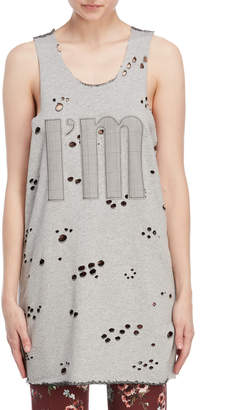 I'M Isola Marras Distressed Logo Longline Tank