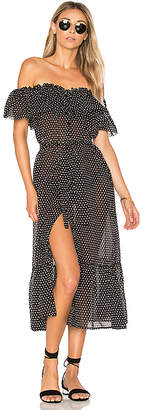 Lisa Marie Fernandez Mira Button Down Dress in Black & White $795 thestylecure.com