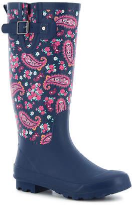 Western Chief Womens Classic Tall Plesant Paisley Rain Boots Waterproof Buckle