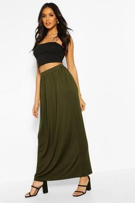 boohoo Pocket Front Jersey Maxi Skirt