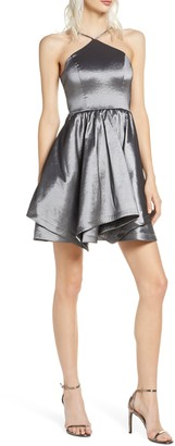 Sequin Hearts Taffeta Party Dress