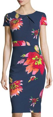 JAX Floral-Print Short-Sleeve Sheath Dress $99 thestylecure.com