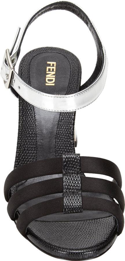 Fendi Chameleon Ankle-Strap Sandals