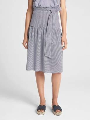 Gap Flounce Tie-Belt Midi Skirt