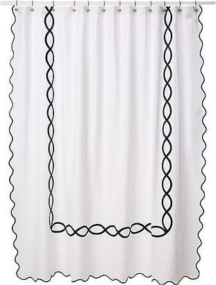 One Kings Lane Matouk For Gianna Shower Curtain - Navy