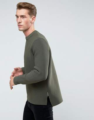 Bellfield Structured Knit With Raw Hems