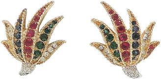 One Kings Lane Vintage Boucher Fan-Shaped Rhinestone Earrings