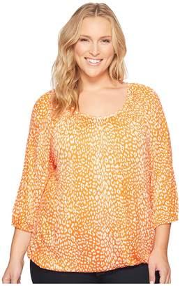 MICHAEL Michael Kors Size Cheetah Peasant Top Women's Clothing