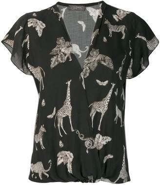 Soallure SO ALLURE animal print blouse