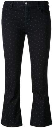 Love Moschino star print cropped jeans