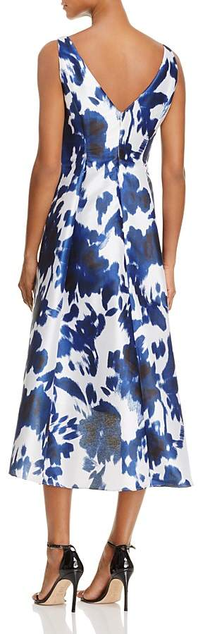 Adrianna Papell Abstract Floral High/Low Dress 2