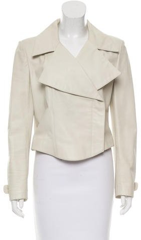ChanelChanel Leather Double-Breasted Jacket