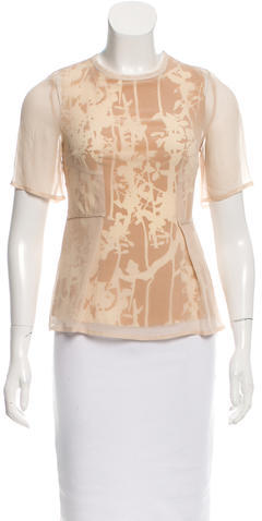 3.1 Phillip Lim 3.1 Phillip Lim Sheer-Paneled Printed Top