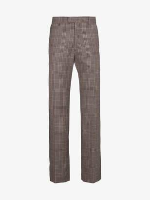 Dries Van Noten check wool trousers