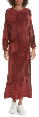 Elizabeth and James Lafayette Velvet Sweatshirt Dress