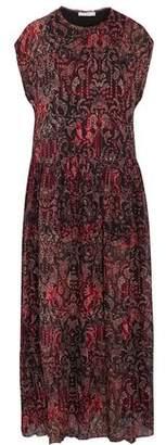 IRO Pleated Printed Gauze Maxi Dress
