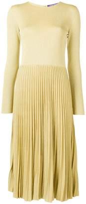 Ralph Lauren lurex knit pleated dress