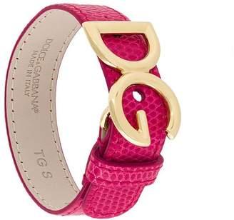 Dolce & Gabbana logo plaque bracelet