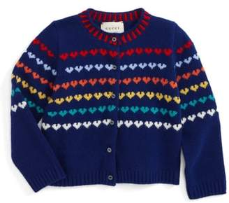 Gucci Logo Wool & Cashmere Cardigan