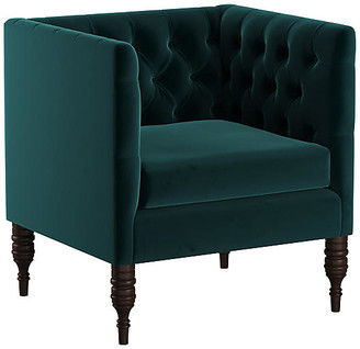 One Kings Lane Churchill Tufted Club Chair - Peack Velvet