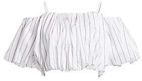 3.1 Phillip Lim Women's Striped Cold-Shoulder Top