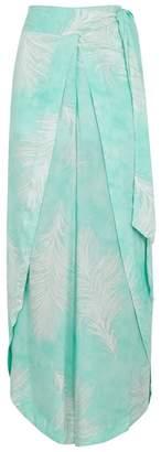 Vix Paula Hermanny V I X Paula Hermanny Liz Feather-print Voile Trousers