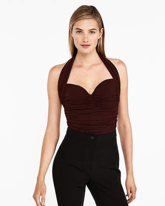 Express Ruched Halter Tank