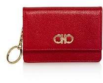 Salvatore Ferragamo Gancini Gusset Leather Card Case