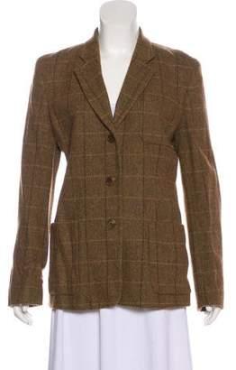 DKNY Wool-Blend Plaid Blazer