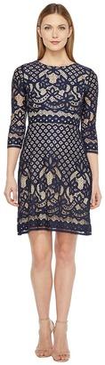 Christin Michaels - Maxine 3/4 Sleeve Lace Dress Women's Dress $109 thestylecure.com