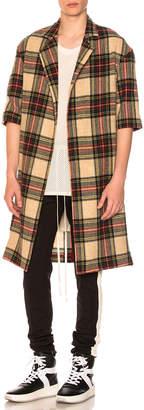 Fear Of God Wool Plaid Overcoat