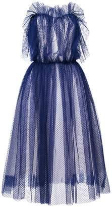 Natasha Zinko point d'esprit strapless maxi dress