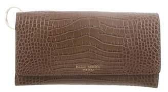 Henri Bendel Embossed Leather Wallet