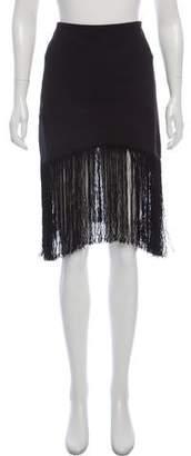 Alexis Fringe-Trimmed Mini Skirt