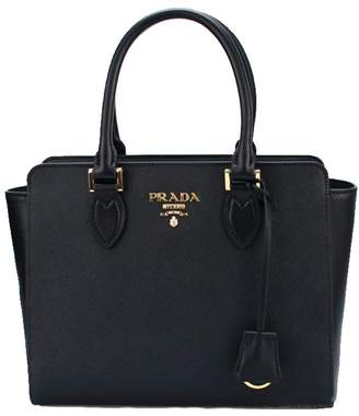 Prada Women's Saffiano Leather Shoulder Tote Handbag 1BA113