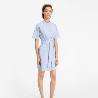 Everlane The Cotton Collarless Belted Shirtdress