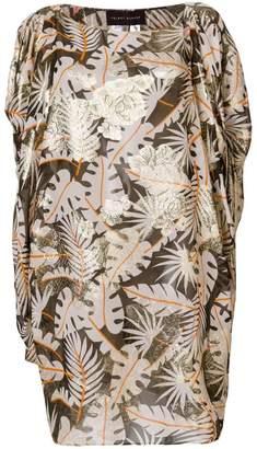 Talbot Runhof jungle print dress