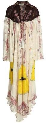 Etro Tasseled Printed Silk-Jacquard Maxi Dress