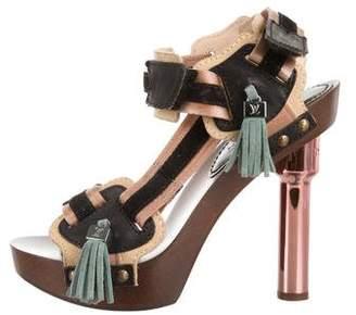 Louis Vuitton Leather Tassel Sandals