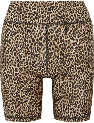 The Upside Leo Leopard-print Stretch Shorts - Leopard print