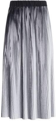 Balmain Two-Tone Pleated Skirt
