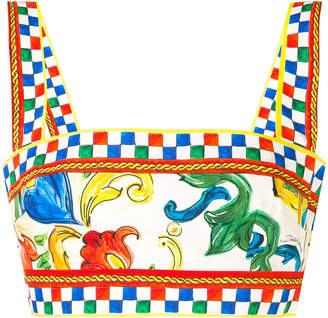 Dolce & Gabbana Majolica print cropped top