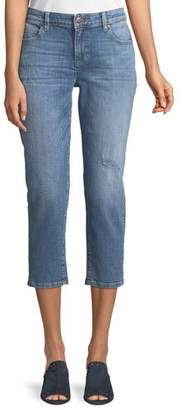 Eileen Fisher Cropped Tapered Jeans, Plus Size