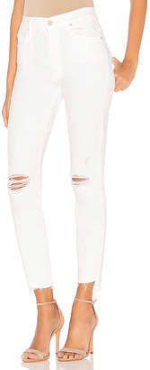 Mother Stunner Zip Ankle Step Fray Jean.