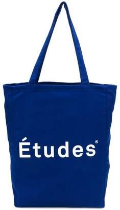 Études logo print shopper tote