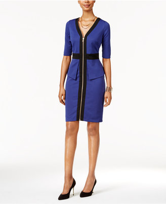 Thalia Sodi Colorblocked Peplum Sheath Dress, Only at Macy's $89.50 thestylecure.com