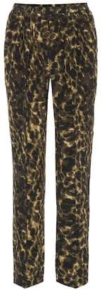 Stella McCartney Leopard-printed silk pants