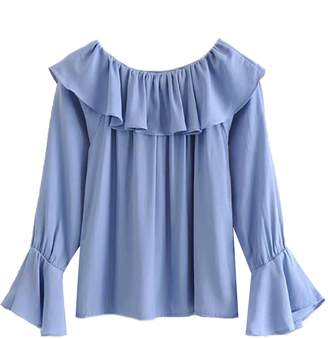 Goodnight Macaroon 'Haley' Ruffled Off The Shoulder Blouse